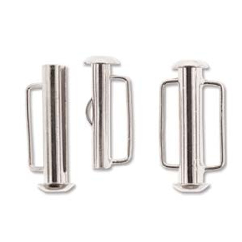 21.5mm Silver Plated Slide Bar Clasp