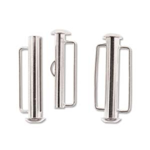 26.5mm Silver Plated Slide Bar Clasp