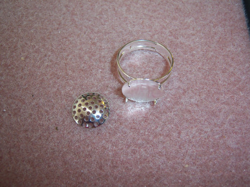 Silver Plated Adjustable Shower Top Ring (x2) 4625