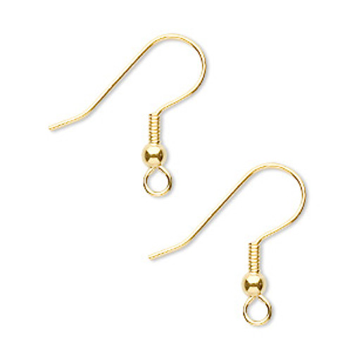 Gold Plated 21 Gauge Surgical Steel Fish Hook Earrings (25 Pairs)