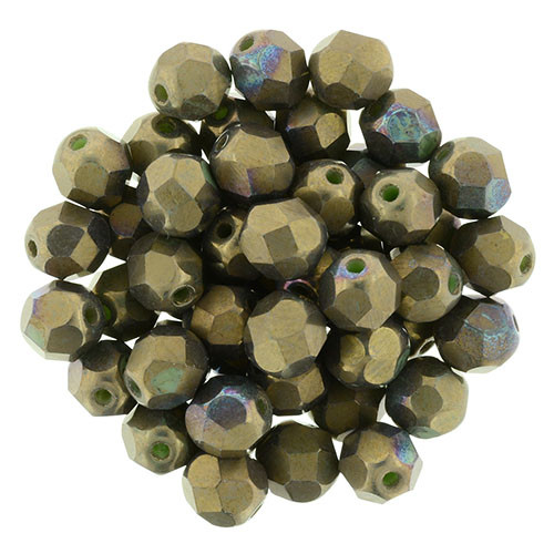 6mm Oxidized Bronze Clay Fire Polished Rounds