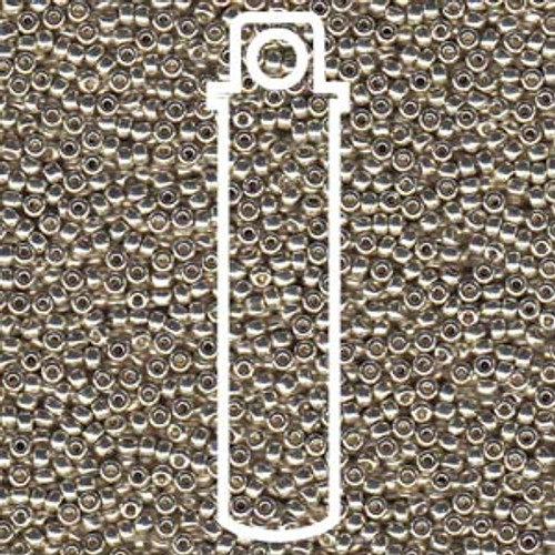 15/0 Duracoat Galvanized Silver Seed Beads 15-94201 (8 Grams)