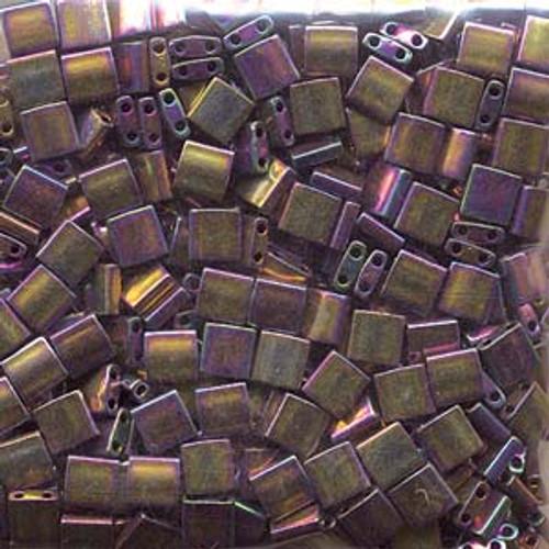 Metallic Purple Gold Iris 5mm Tila Beads (TL188)