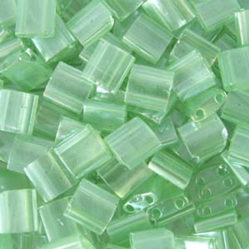 Seafoam Green Luster 5mm Tila Beads (TL370)