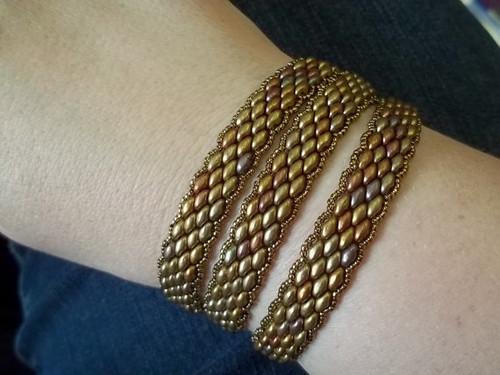 Super Duo Peyote Stitch Wrap Bracelet Tutorial