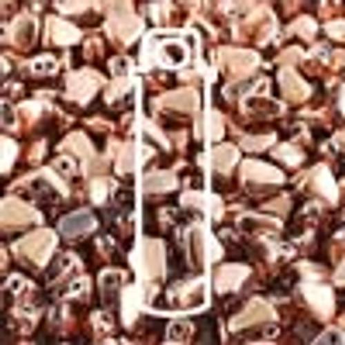 6x5mm Full Capri Gold Nib-Bit Beads
