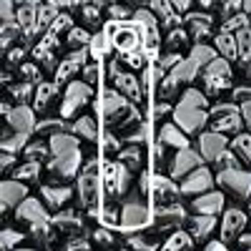 6x5mm Gunmetal Nib Bit Beads (23 Grams)