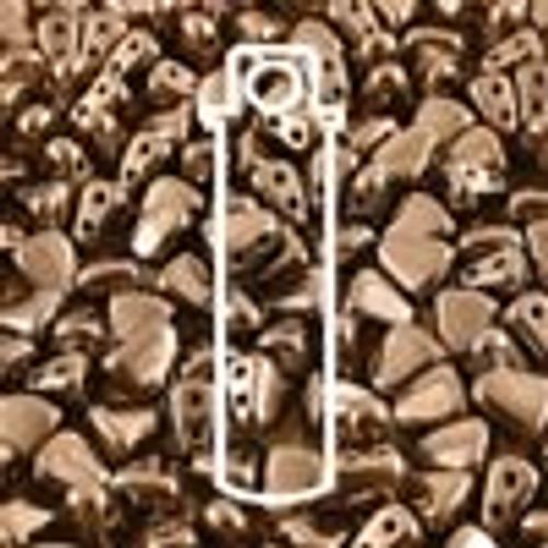 6x5mm Dark Bronze Nib-Bit Beads (8 Grams)