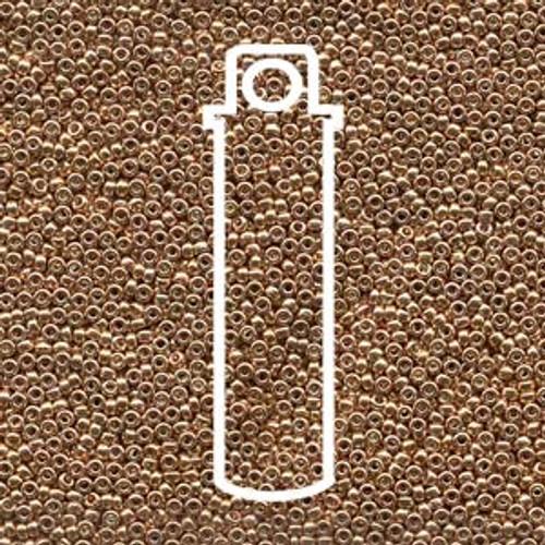 15/0 Miyuki Galvanized Gold Seed Beads 15-9182 (8 Grams)