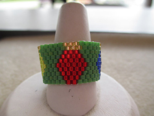 Peyote Stitch Christmas Lights Ring (Graph) Tutorial