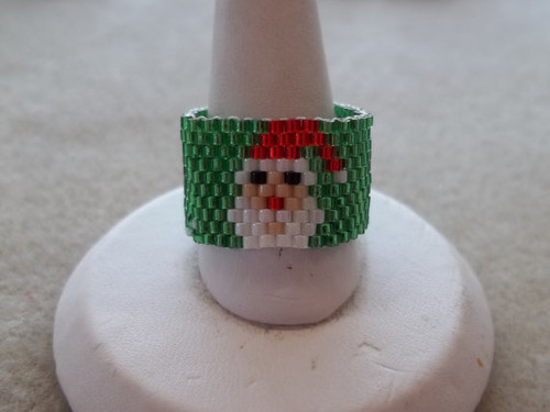 Peyote Stitch Small Santa Ring (Graph) Tutorial