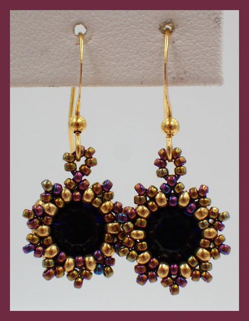 Purple Sunburst Earring Kit