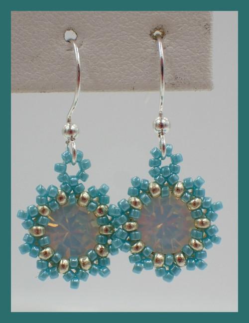 Turquoise Blue Sunburst Earrings Kit