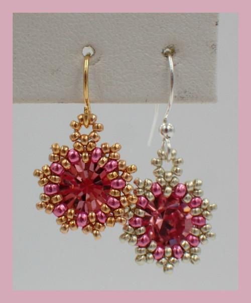 Pink Sunburst Earring Kit