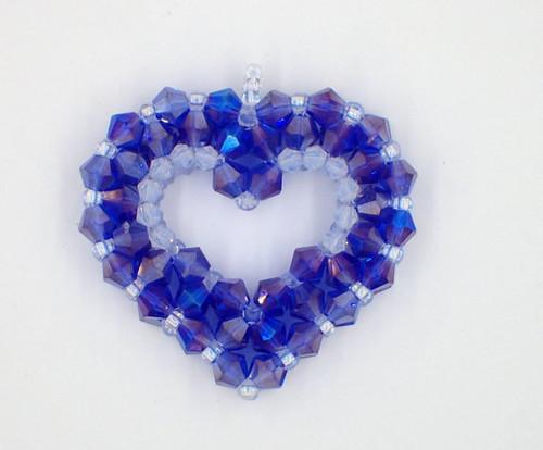 Open 3-D Heart Pendant Tutorial