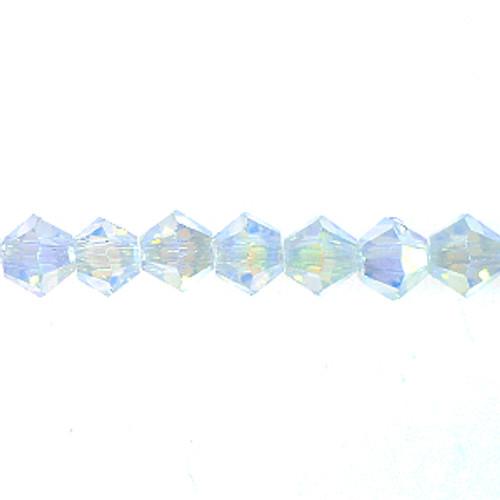4mm Opal Thunder Polish Crystal Bicones