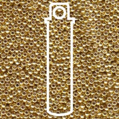 11/0 Galvanized Yellow Gold Miyuki Seed Beads