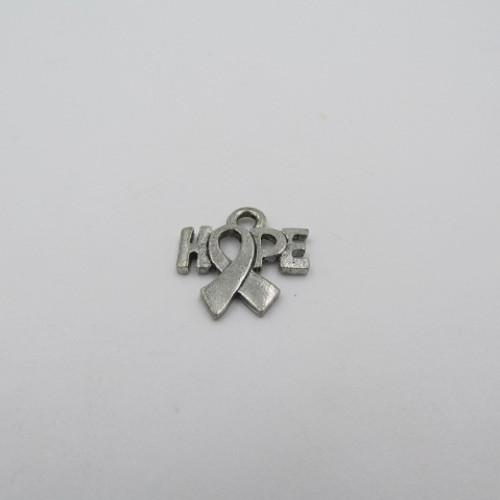 Hope Ribbon Pewter Charm 1932
