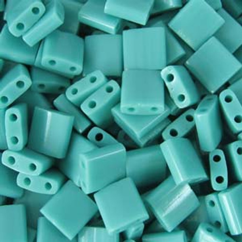 Opaque Turquoise Green 5mm Tila Beads (TL412)