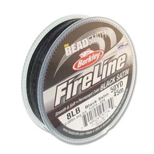 8lb Black Satin Fireline - 50yd spool