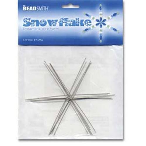 "4.5"" Ornament Wire Snowflake Form"