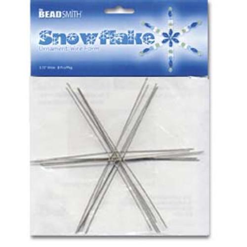 "6"" Ornament Wire Snowflake Form"