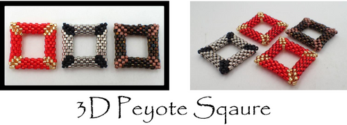 3D Peyote Square Tutorial