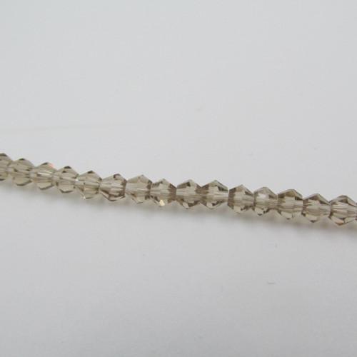 4mm Silver Champagne Thunder Polish Crystal Bicones