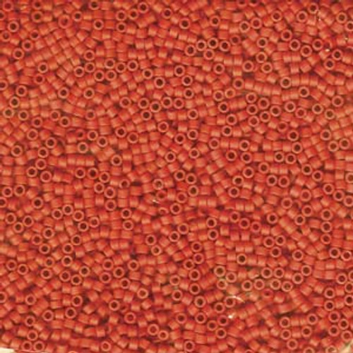 11/0 Dyed Matte Opaque Vermillion Delica 8 Grams (DB795) (8 Grams)
