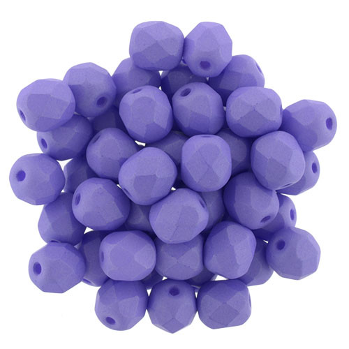 6mm Saturated Purple Fire Polish Beads (25 Beads)