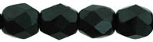 4mm Jet Fire Polish Beads (50pk)