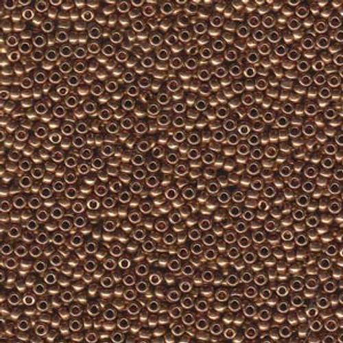 11/0 Metallic Light  Bronze Miyuki Seed Beads 22 Grams (11-9457L)