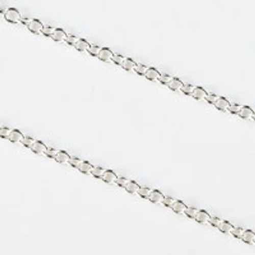 2x2.5mm Soldered Ring Silver Plated Chain - Sold Per Foot