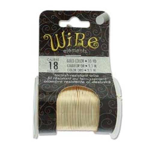 18ga Gold Tarnish Resistant Wire - 10yds