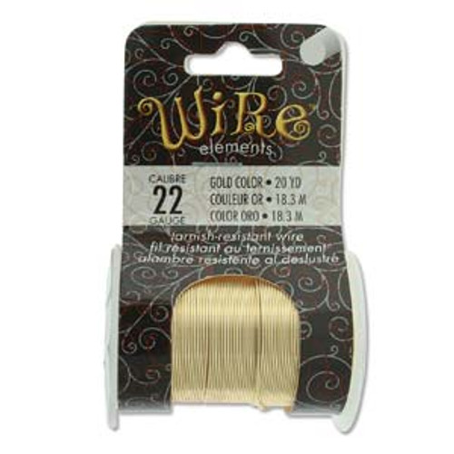 22ga Gold Tarnish Resistant Wire - 20yds