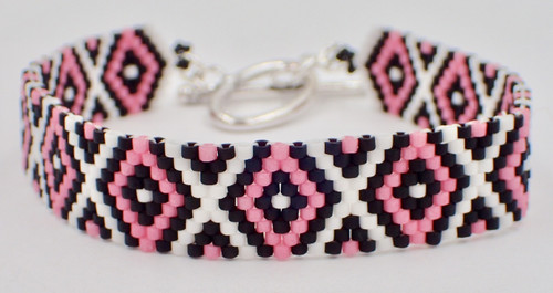 Odd Count Peyote Diamond Bracelet Instant Download Pattern