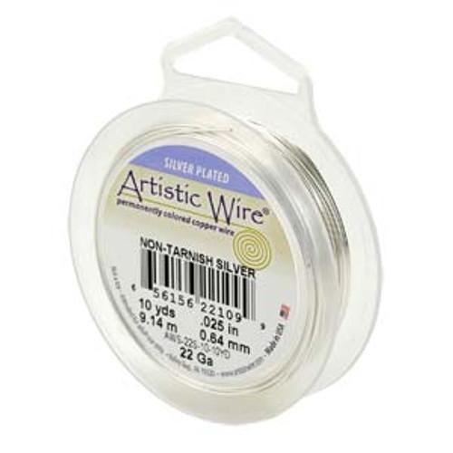 18 Ga. Silver Artistic Wire  -  20ft