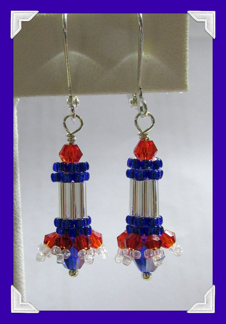 Firecracker Earring PRINTED Pattern
