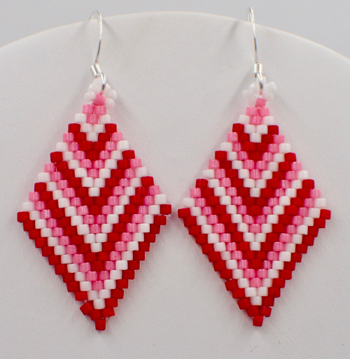 V is for Valentine Earrings Instant Download Pattern