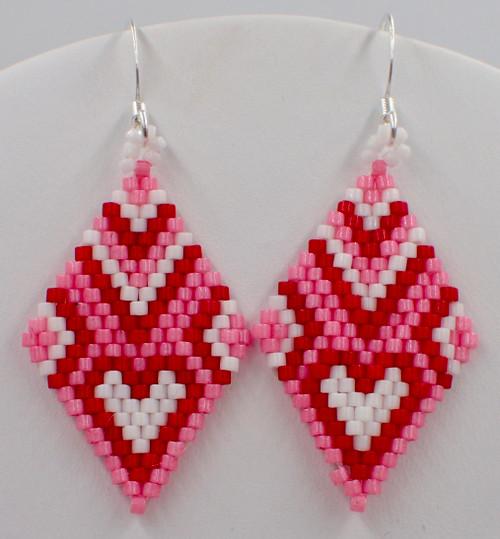 Heart of Diamond Earrings PRINTED Pattern