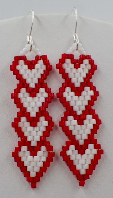 Column Heart Earring Instant Download PDF Pattern