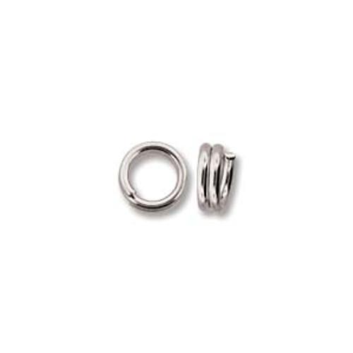 5mm Silver Plated Split Rings (20 Pack)