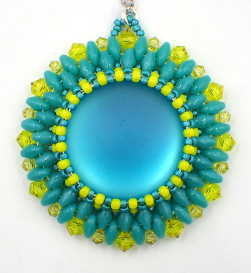 Bursting Flower Pendant Kit - Blue & Yellow