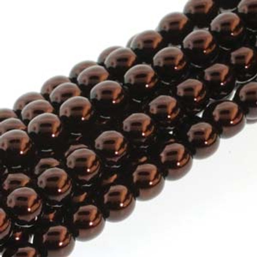 4mm Bronze Glass Round Pearls - 120 Beads