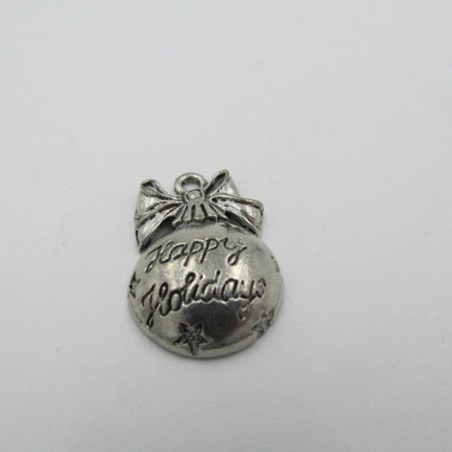 Happy Holidays Ornament Pewter Charm 863