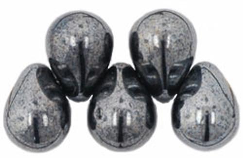 8x6mm Hematite Tear Drops (48-50 Beads)
