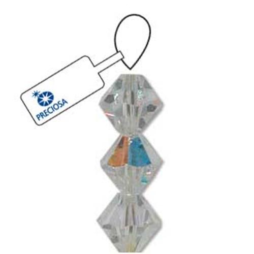 3mm Crystal AB Preciosa Bicone (48pc)