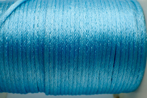 1.5mm Turquoise Rayon Rattail Cord - Per Yard