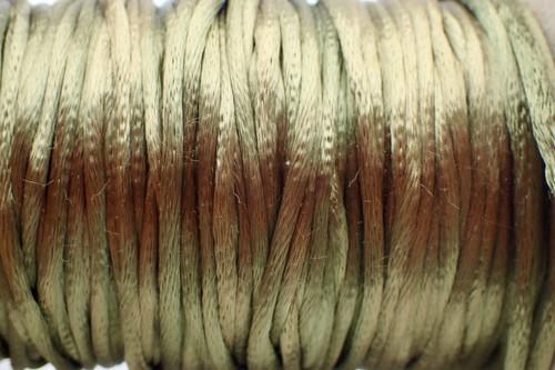1.5mm Dark Olive Rayon Rattail Cord - Per Yard