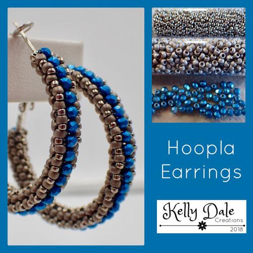 Hoopla Earring Kit - Grey & Blue
